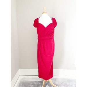 City Chic Red Classic Sweetheart Maxi Dress 18